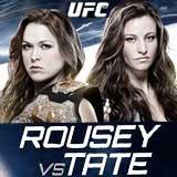 Ufc 168 Fight Poster Ronda Rousey vs Miesha...