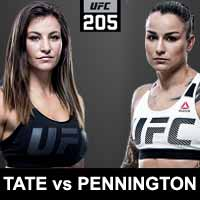 tate-vs-pennington-full-fight-video-ufc-205-poster