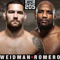weidman-vs-romero-full-fight-video-ufc-205-poster