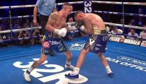 Photo of the fight Josh Warrington vs Carl Frampton