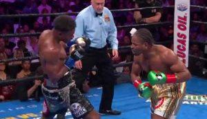 Photo of the fight Errol Spence Jr vs Shawn Porter