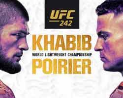 khabib-poirier-fight-ufc-242-poster