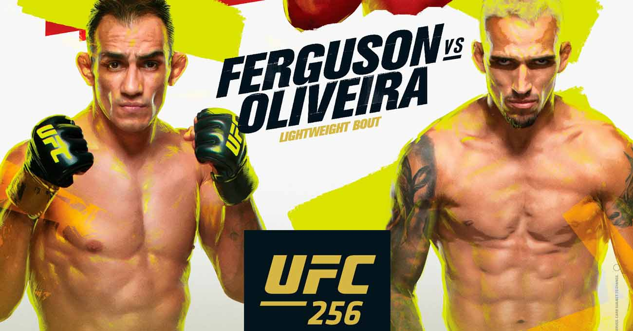ferguson-oliveira-full-fight-video-ufc-256-poster
