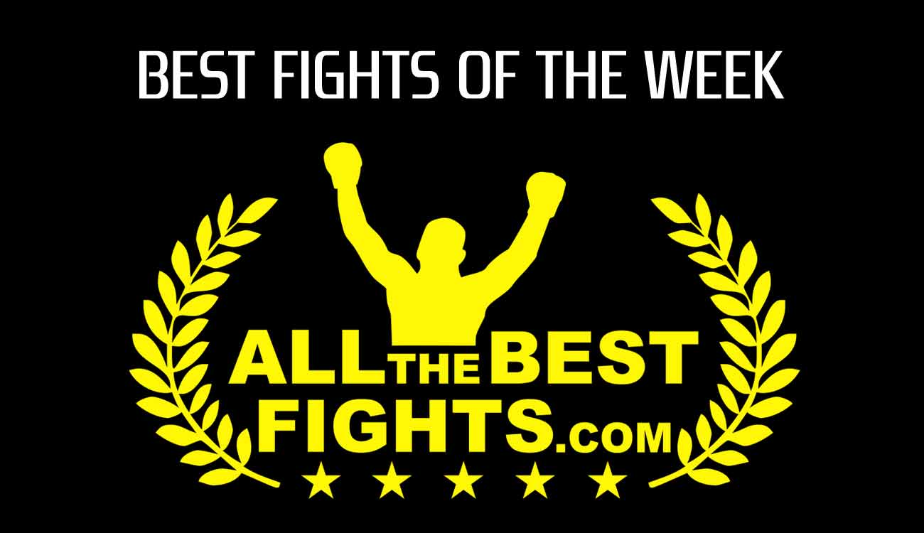 Weekly selection of the best boxing, mma, k-1 and muay thai fights