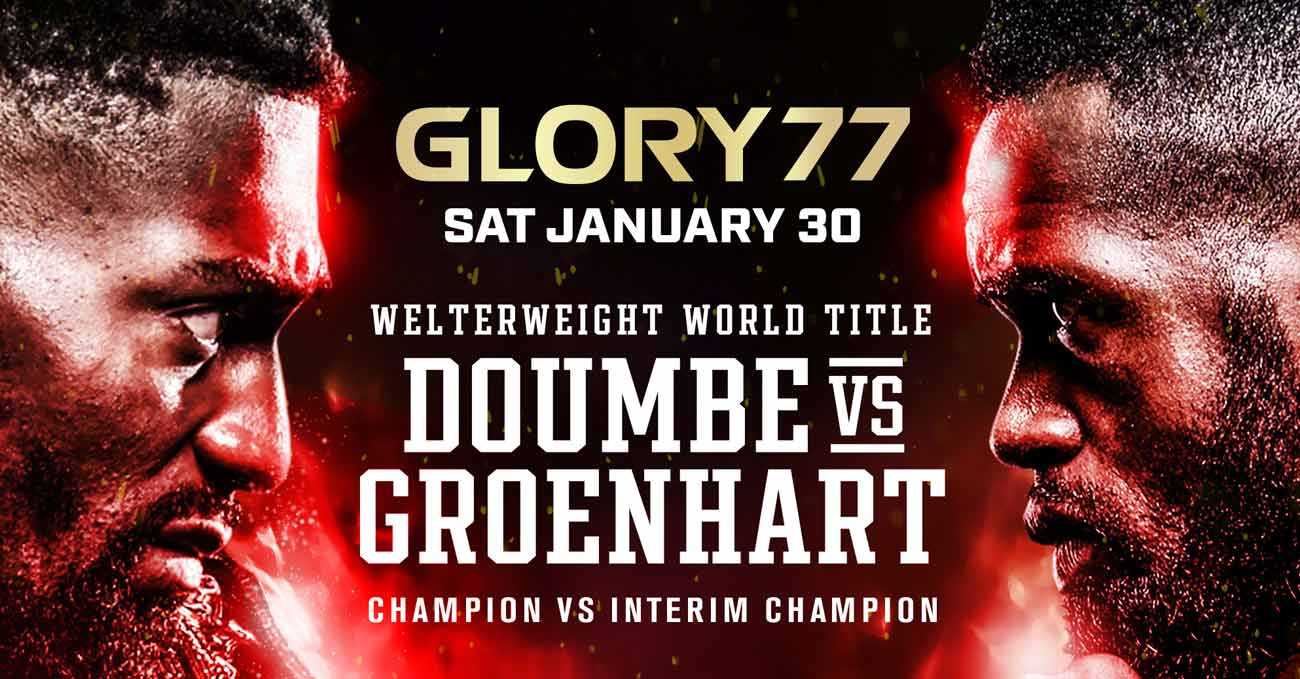 Cedric Doumbe vs Murthel Groenhart 3 full fight video Glory 77 poster