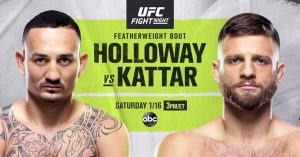 Photo of the fight Max Holloway vs Calvin Kattar