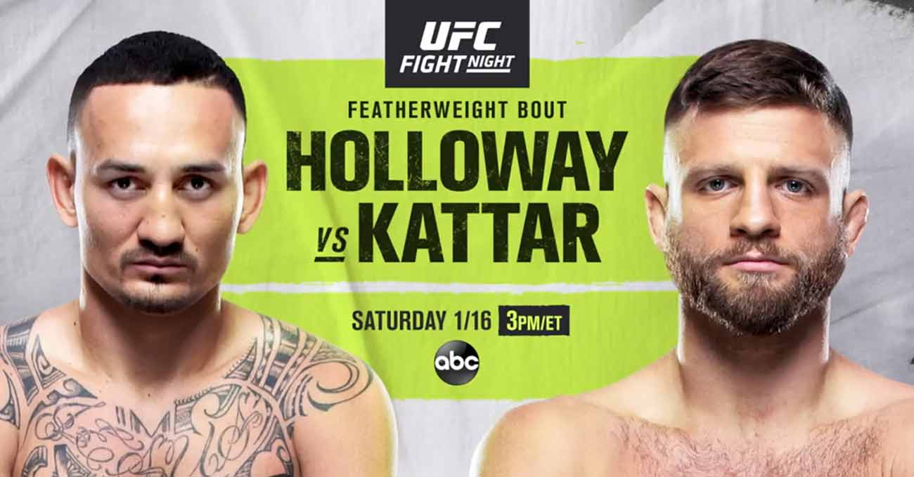 Max Holloway vs Calvin Kattar full fight video UFC on ABC 1 poster