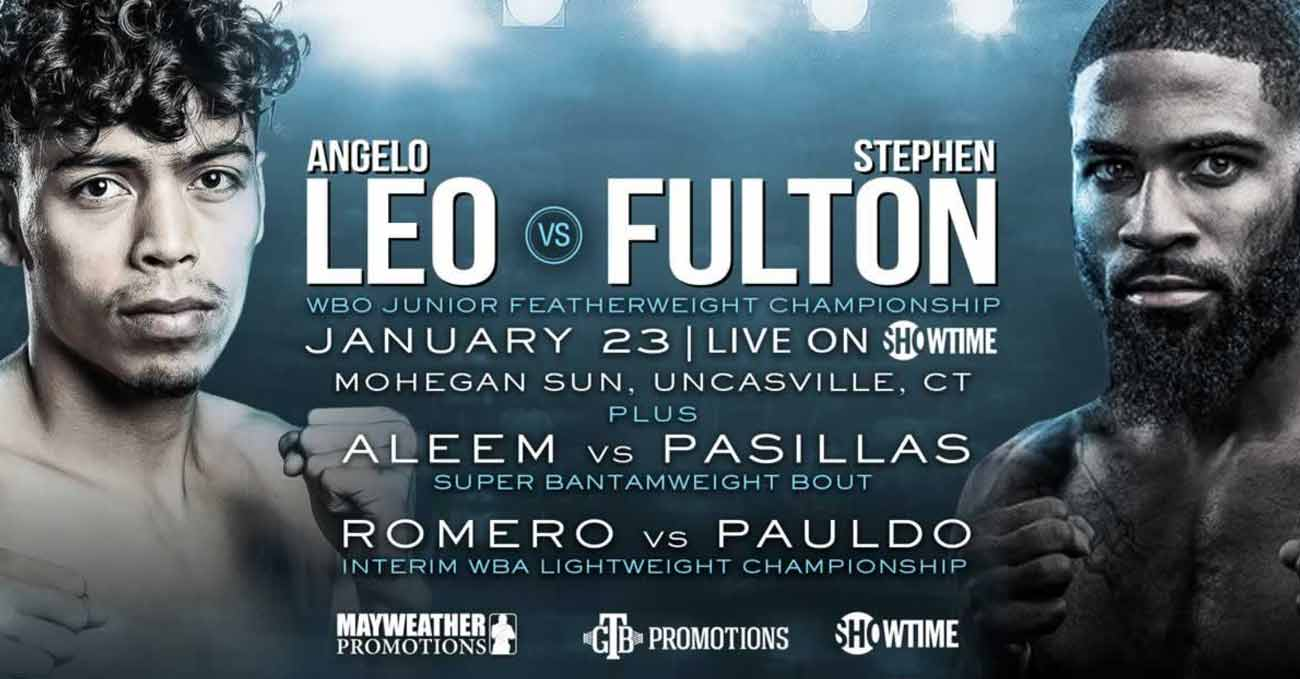 Angelo Leo vs Stephen Fulton full fight video poster 2021-01-23