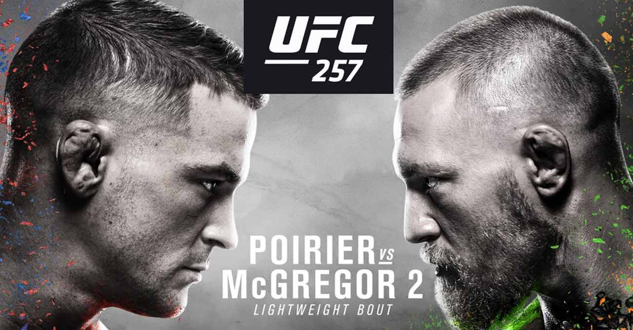 Conor McGregor vs Poirier 2 full fight video UFC 257 poster