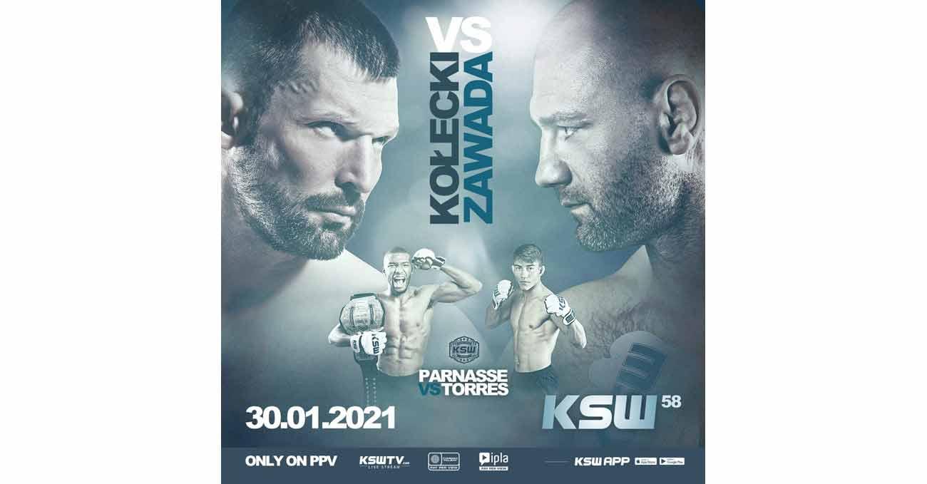 Salahdine Parnasse vs Daniel Torres full fight video KSW 58 poster