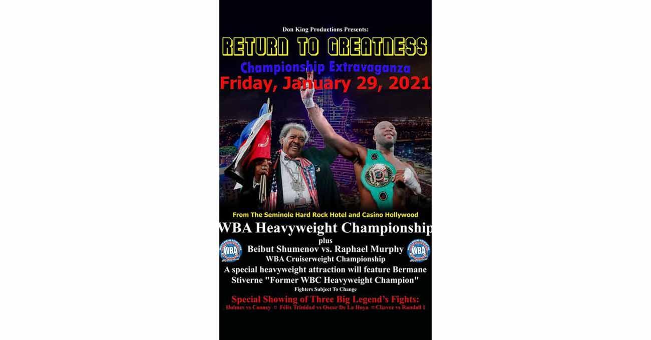 Bermane Stiverne vs Trevor Bryan full fight video poster 2021-01-29