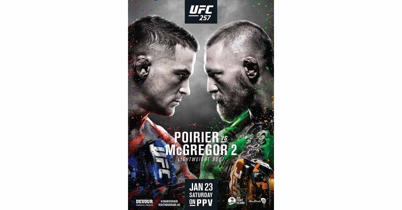 Poster of UFC 257: Poirier vs McGregor 2