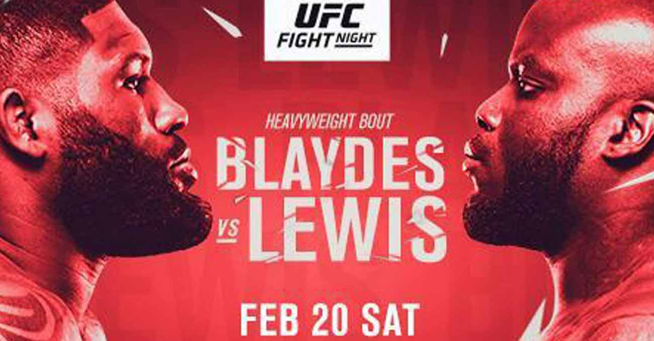 Curtis Blaydes vs Derrick Lewis full fight video UFC Vegas 19 poster