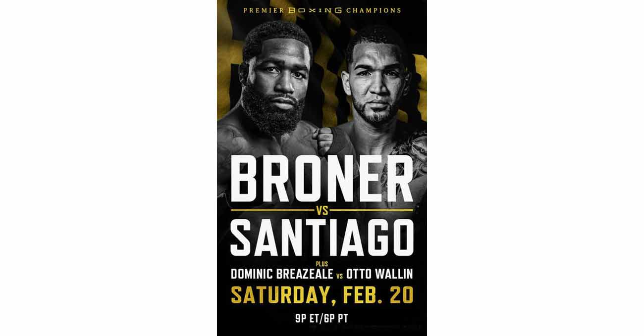 Adrien Broner vs Jovanie Santiago full fight video poster 2021-02-20