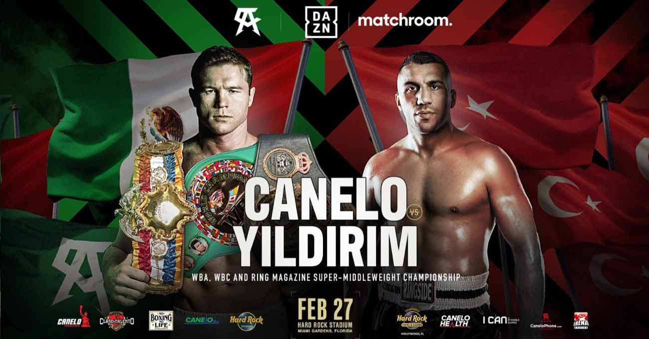 Saul Canelo Alvarez vs Avni Yildirim full fight video poster 2021-02-27