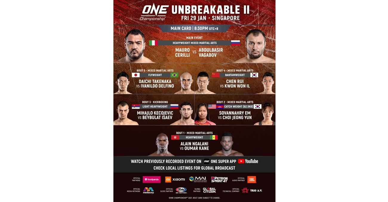 Beybulat Isaev vs Mihajlo Kecojevic full fight video ONE Unbreakable 2 poster