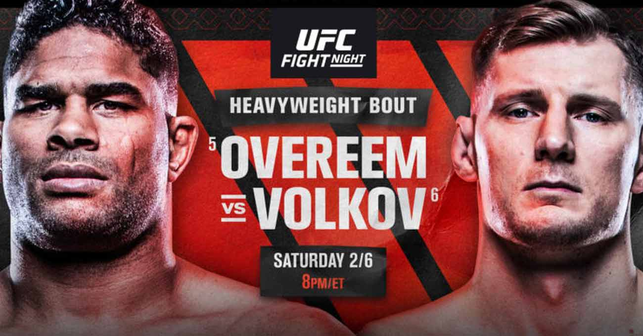 Alistair Overeem vs Alexander Volkov full fight video UFC Fight Night 184 poster
