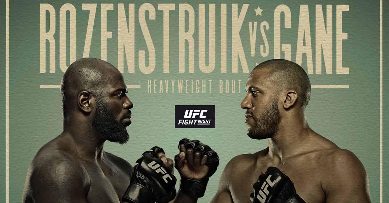 Jairzinho Rozenstruik vs Ciryl Gane full fight video UFC Vegas 20 poster