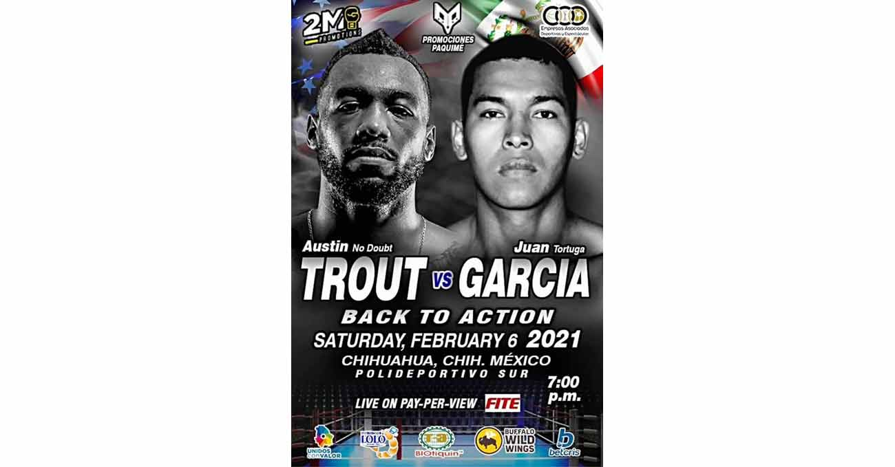 Austin Trout vs Juan Armando Garcia full fight video poster 2021-02-06