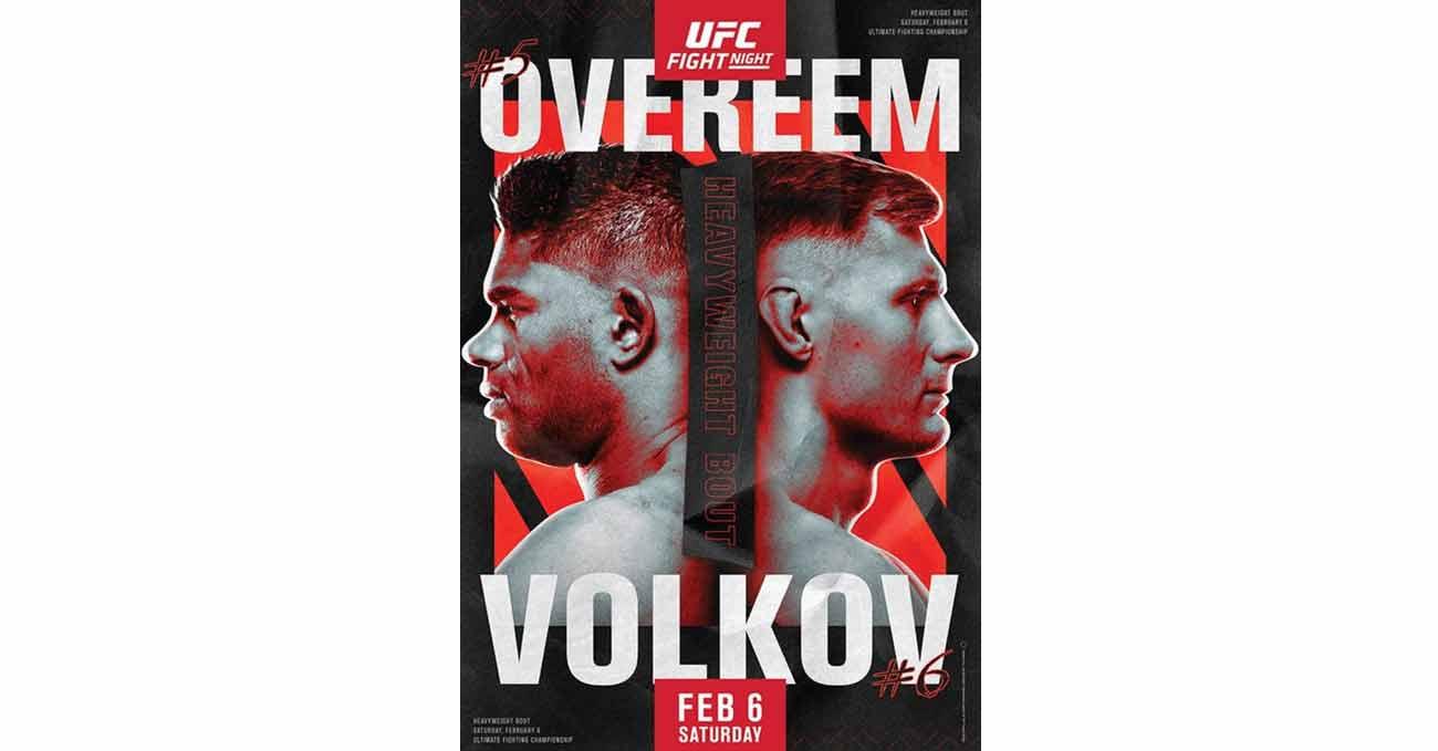 Poster of UFC Fight Night 184: Overeem vs Volkov