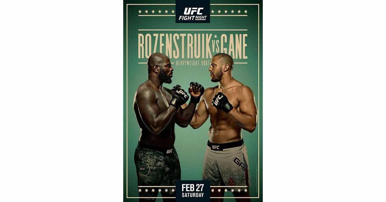 Poster of UFC Vegas 20: Rozenstruik vs Gane