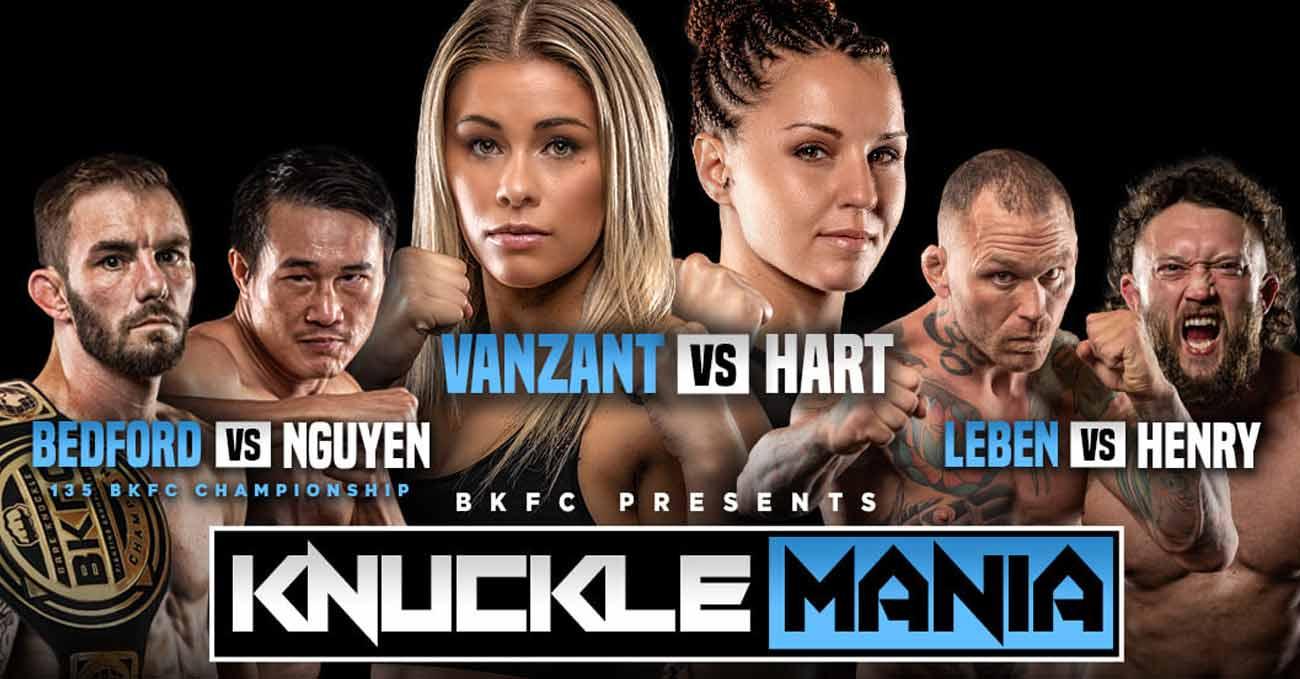 Paige VanZant vs Britain Hart full fight video BKFC KnuckleMania poster