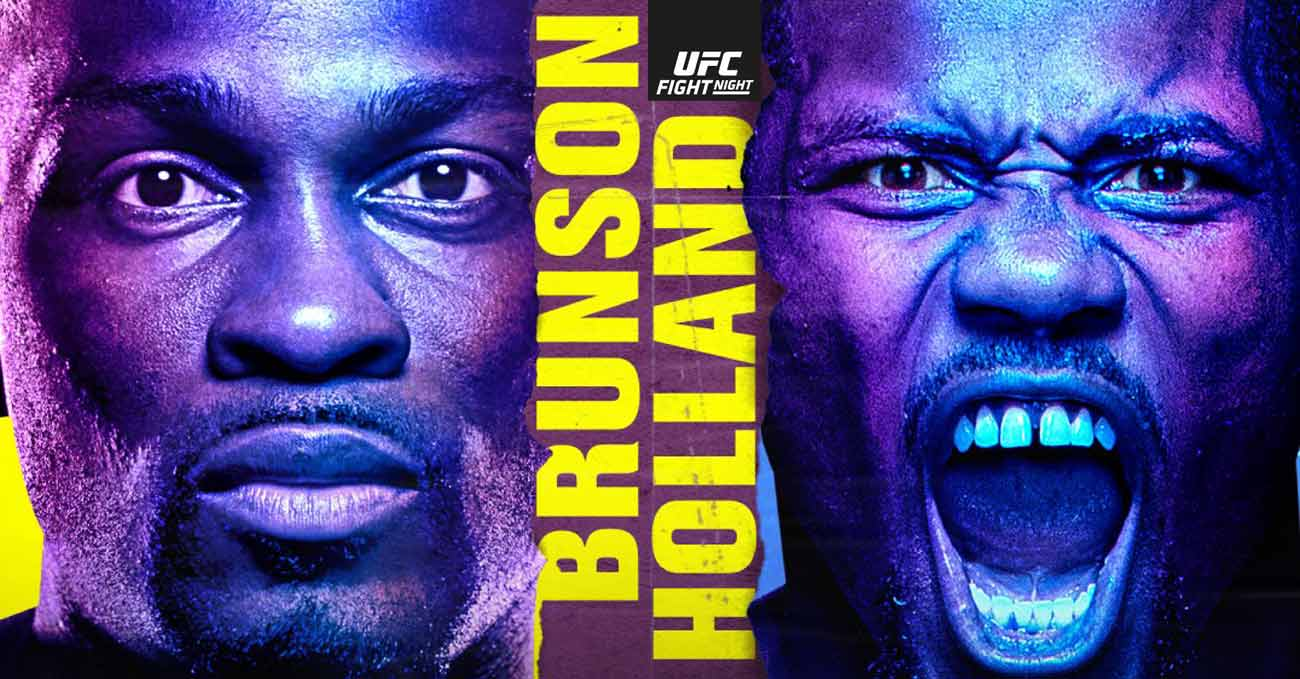 Derek Brunson vs Kevin Holland full fight video UFC Vegas 22 poster