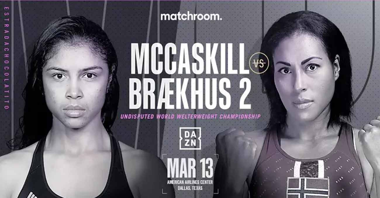 Jessica McCaskill vs Cecilia Braekhus 2 full fight video poster 2021-03-13