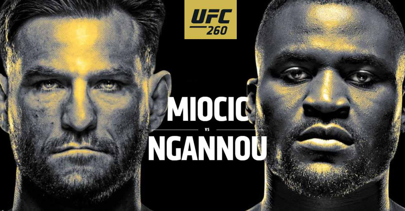 Stipe Miocic vs Francis Ngannou 2 full fight video UFC 260 poster