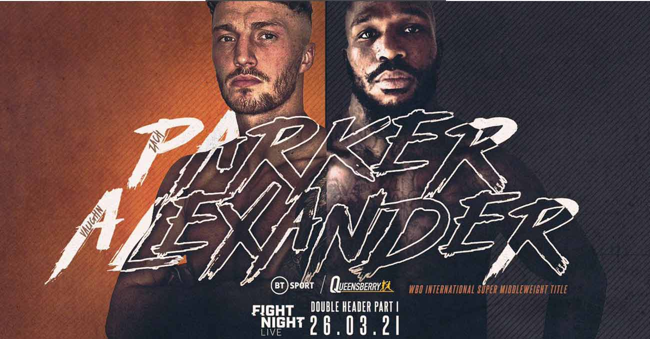 Zach Parker vs Vaughn Alexander full fight video poster 2021-03-26