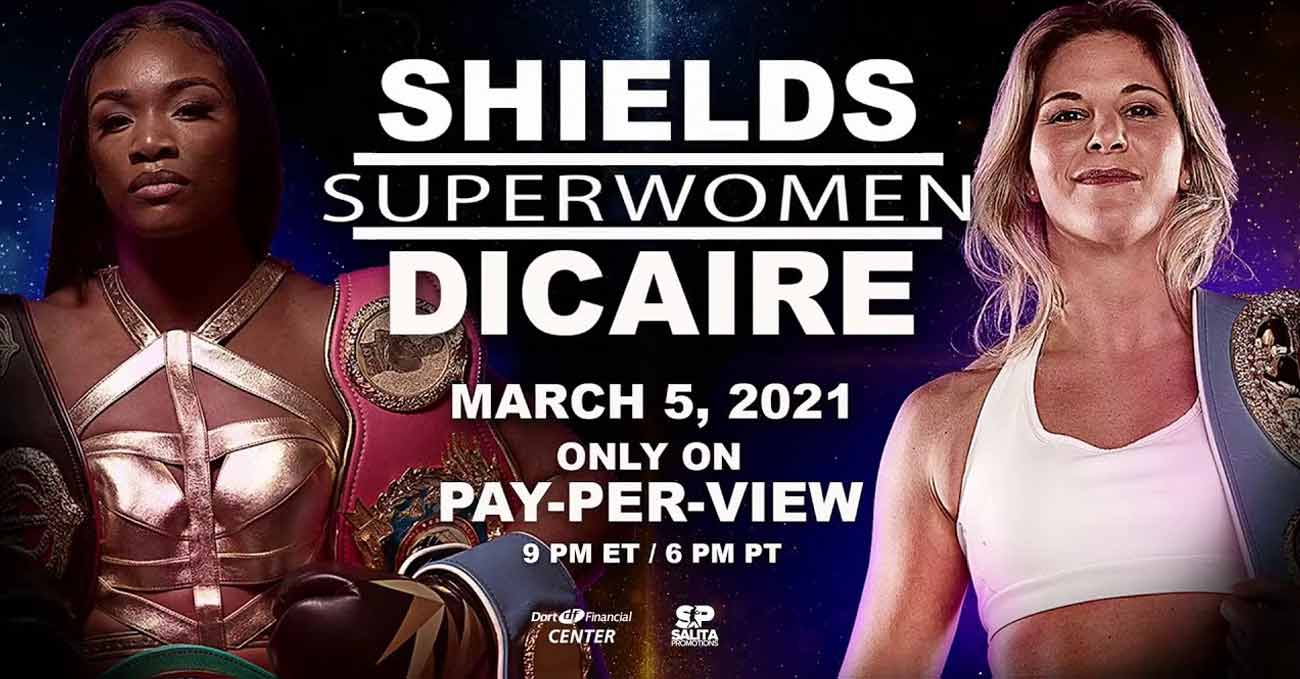 Claressa Shields vs Marie Eve Dicaire full fight video poster 2021-03-05