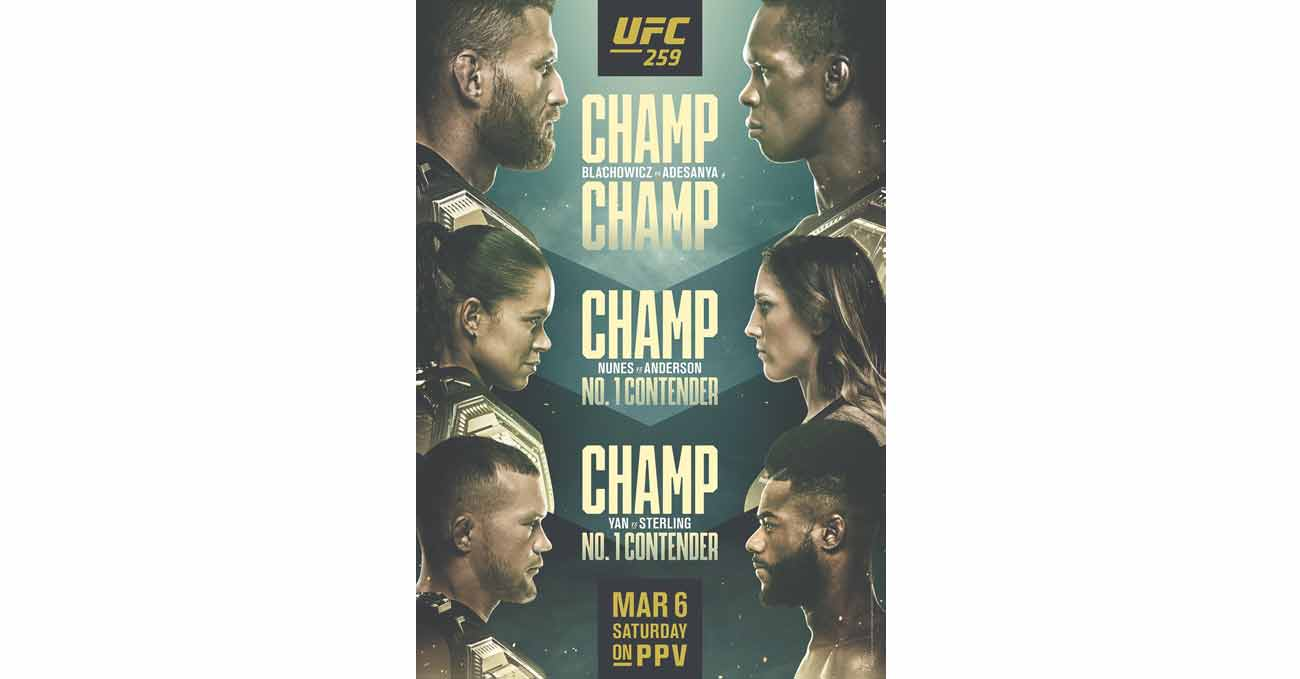 Poster of UFC 259: Blachowicz vs Adesanya