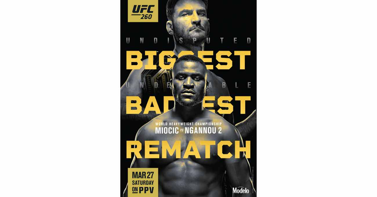 Poster of UFC 260: Miocic vs Ngannou 2