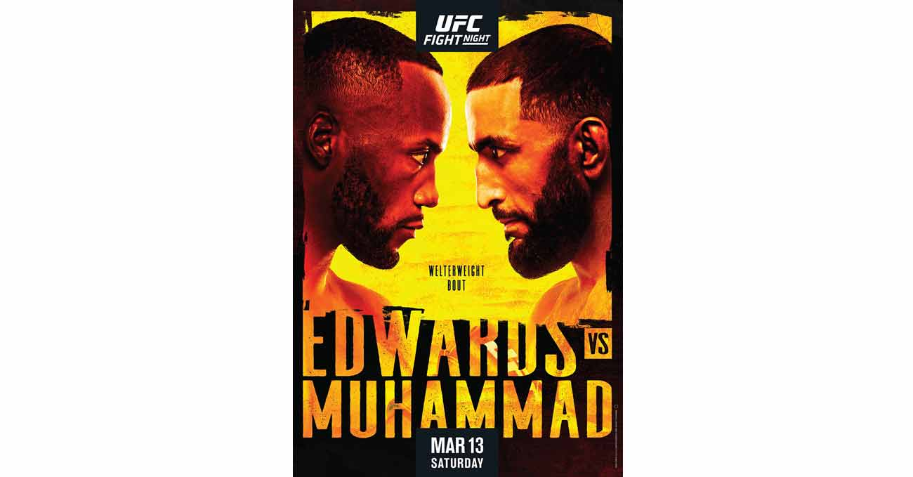 Leon Edwards vs Belal Muhammad full fight video UFC Vegas 21 poster