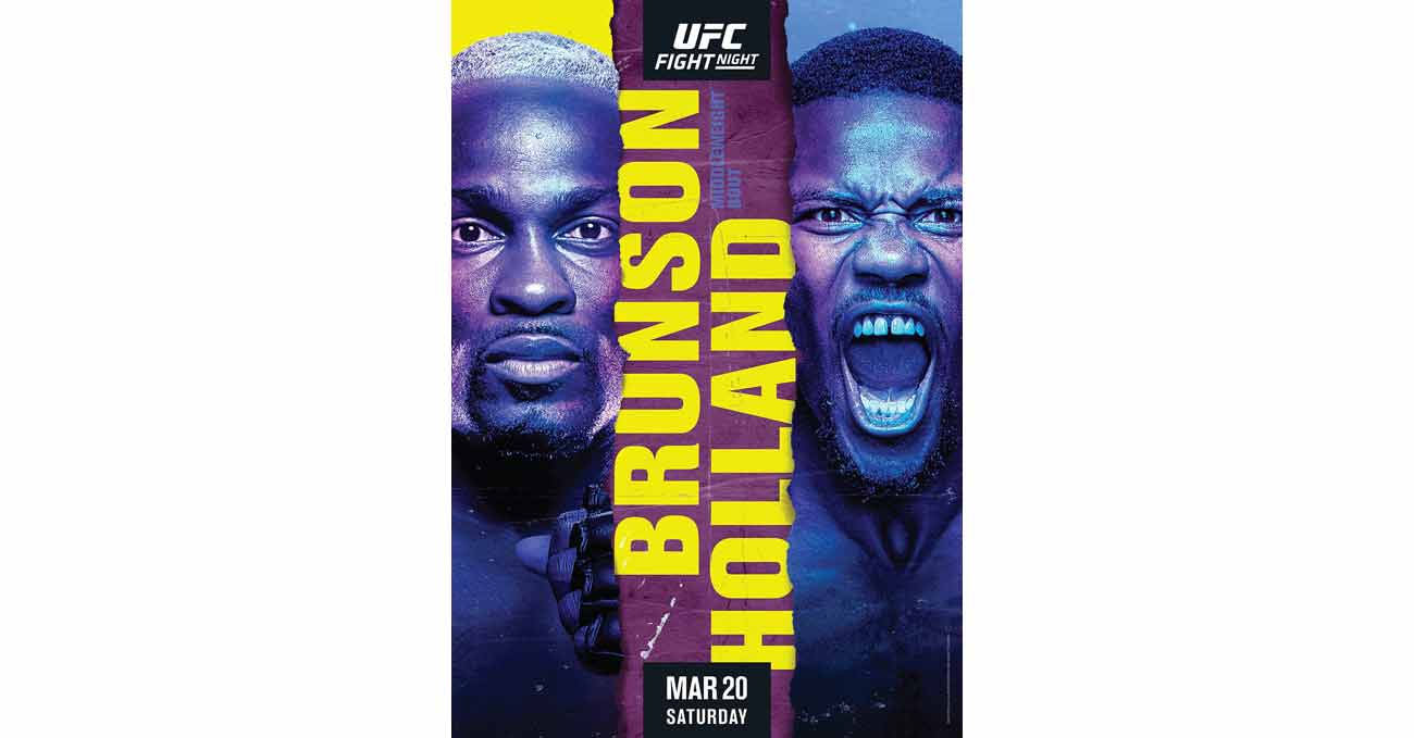 Poster of UFC Vegas 22: Brunson vs Holland