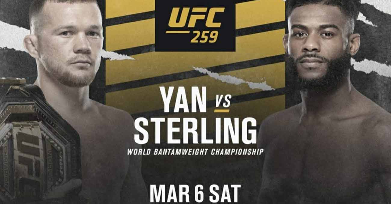 Petr Yan vs Aljamain Sterling full fight video UFC 259 poster