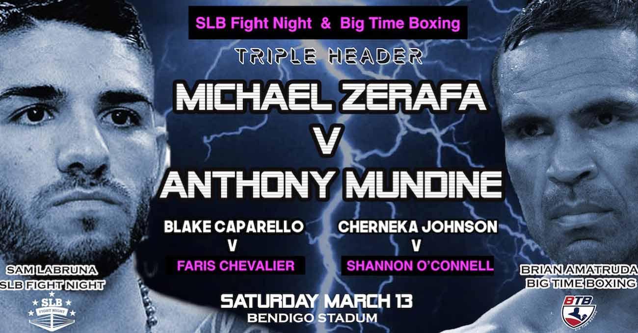 Michael Zerafa vs Anthony Mundine full fight video poster 2021-03-13