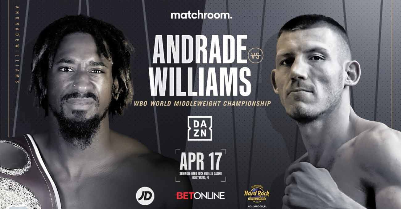 Demetrius Andrade vs Liam Williams full fight video poster 2021-04-17