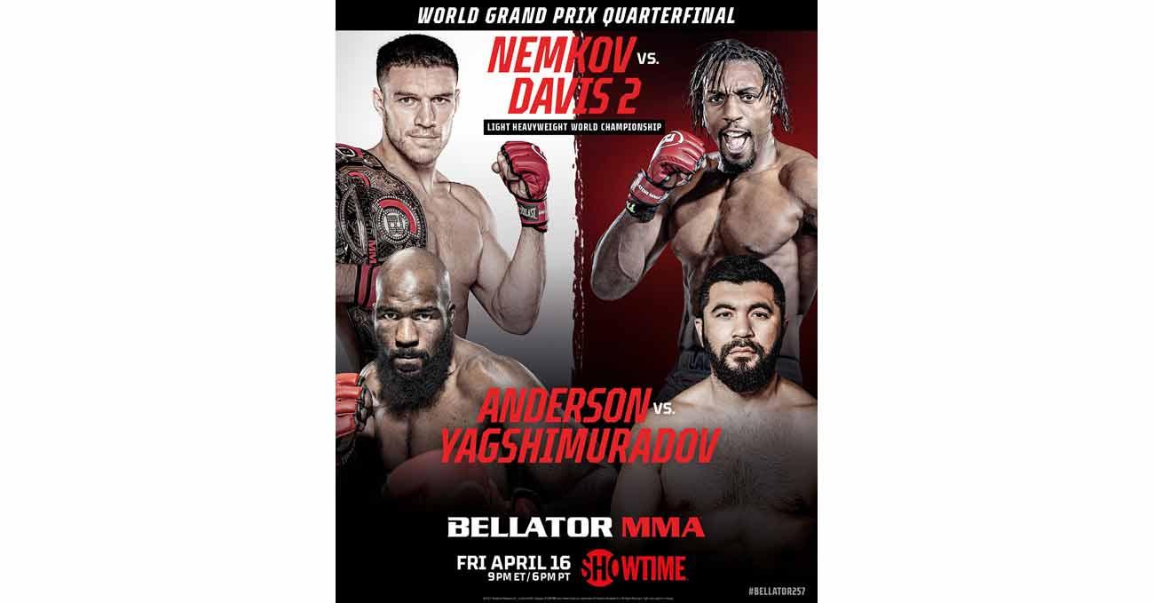 Poster of Bellator 257: Nemkov vs Davis 2