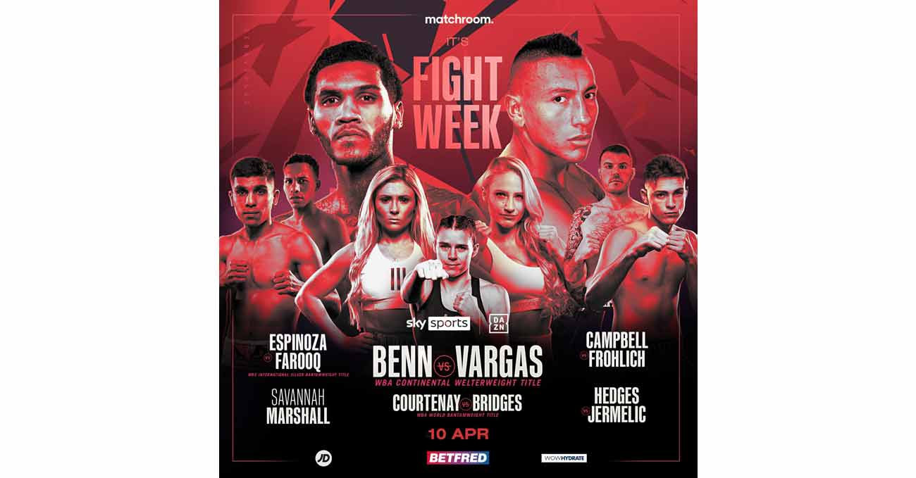 Conor Benn vs Samuel Vargas full fight video poster 2021-04-10