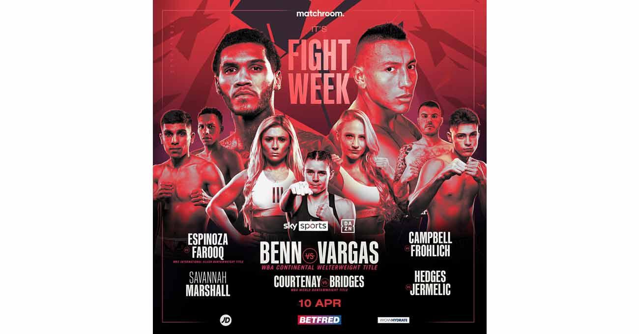 Conor Benn vs Samuel Vargas full fight video poster 2021-04-10