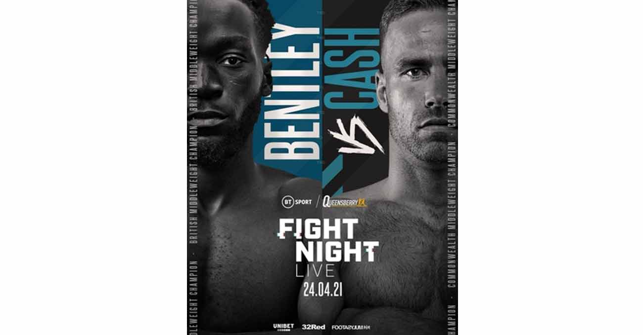 Denzel Bentley vs Felix Cash full fight video poster 2021-04-24