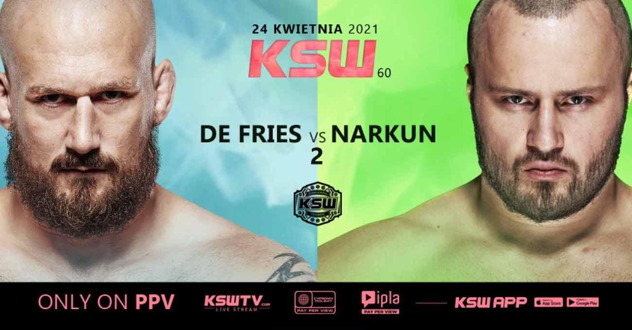 Philip De Fries vs Tomasz Narkun 2 full fight video KSW 60 poster