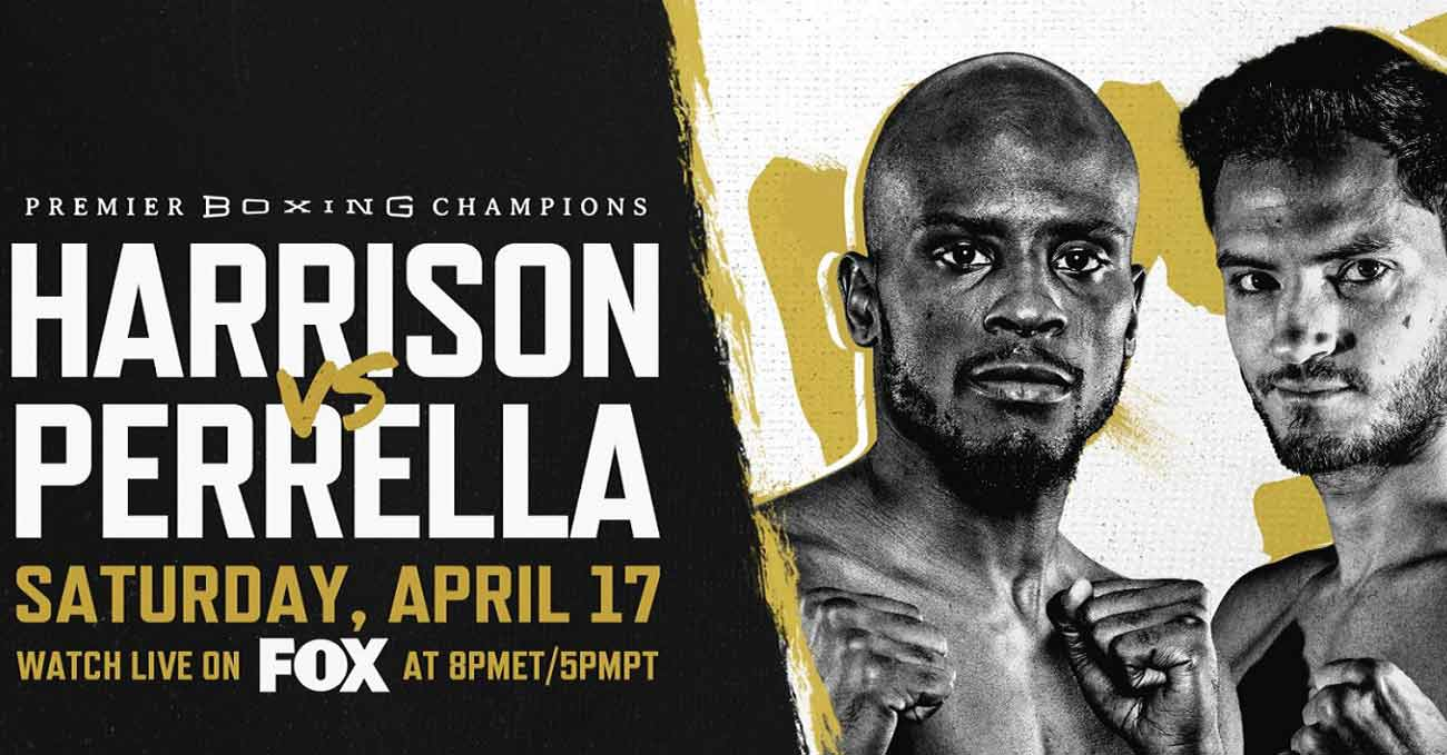 Tony Harrison vs Bryant Perrella full fight video poster 2021-04-17