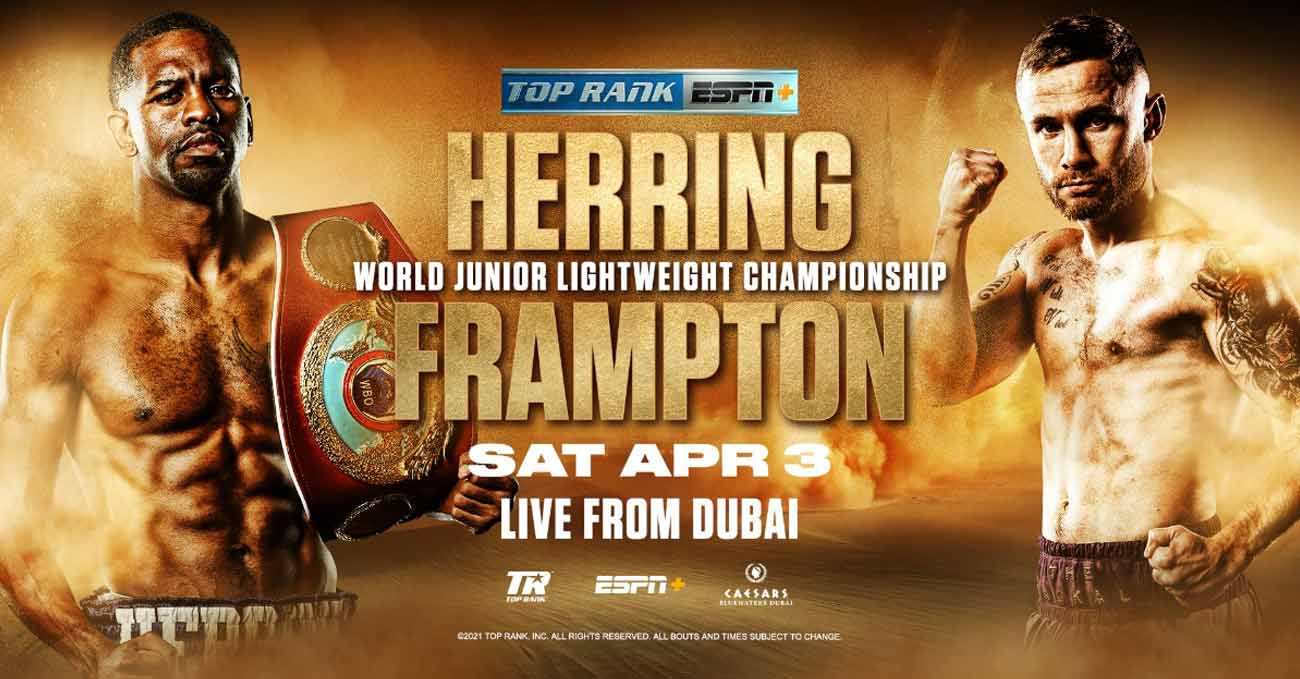 Jamel Herring vs Carl Frampton full fight video poster 2021-04-03