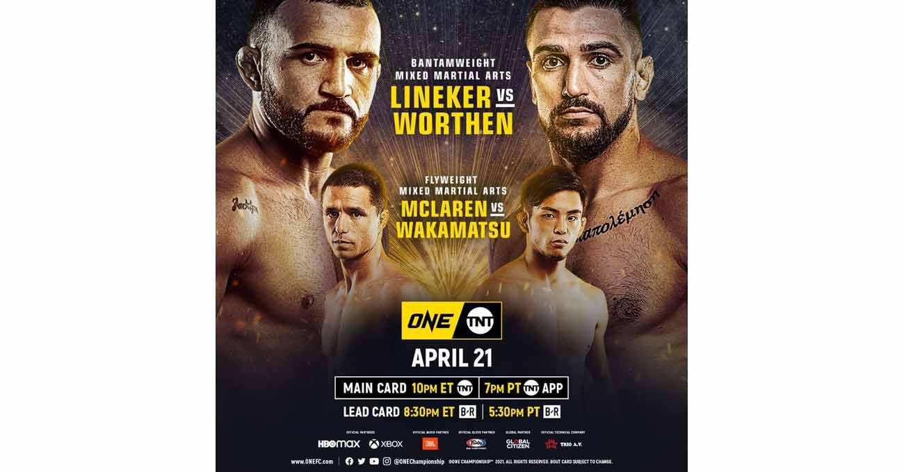 John Lineker vs Troy Worthen full fight video ONE on TNT 3 poster