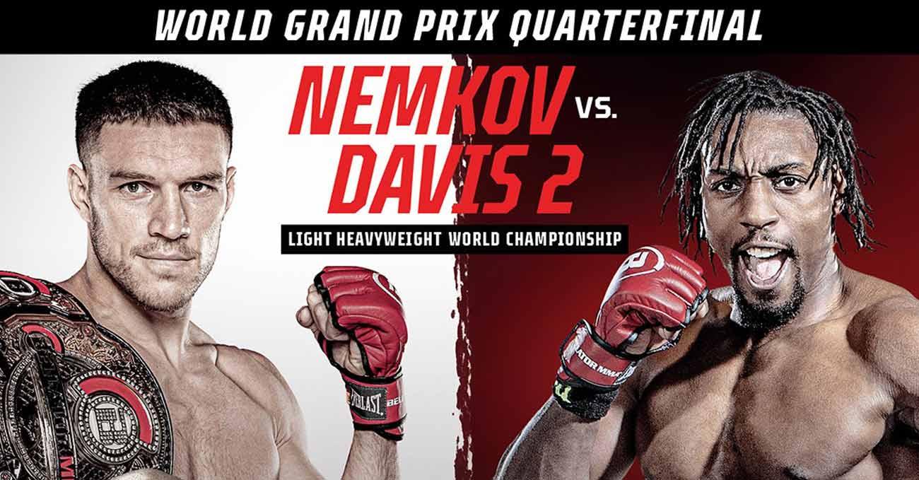 Vadim Nemkov vs Phil Davis 2 full fight video Bellator 257 poster