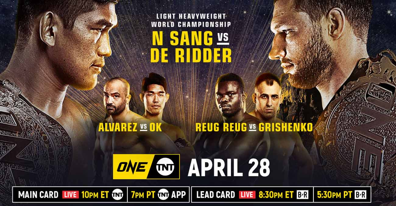 Aung La N Sang vs Reinier de Ridder 2 full fight video ONE on TNT 4 poster