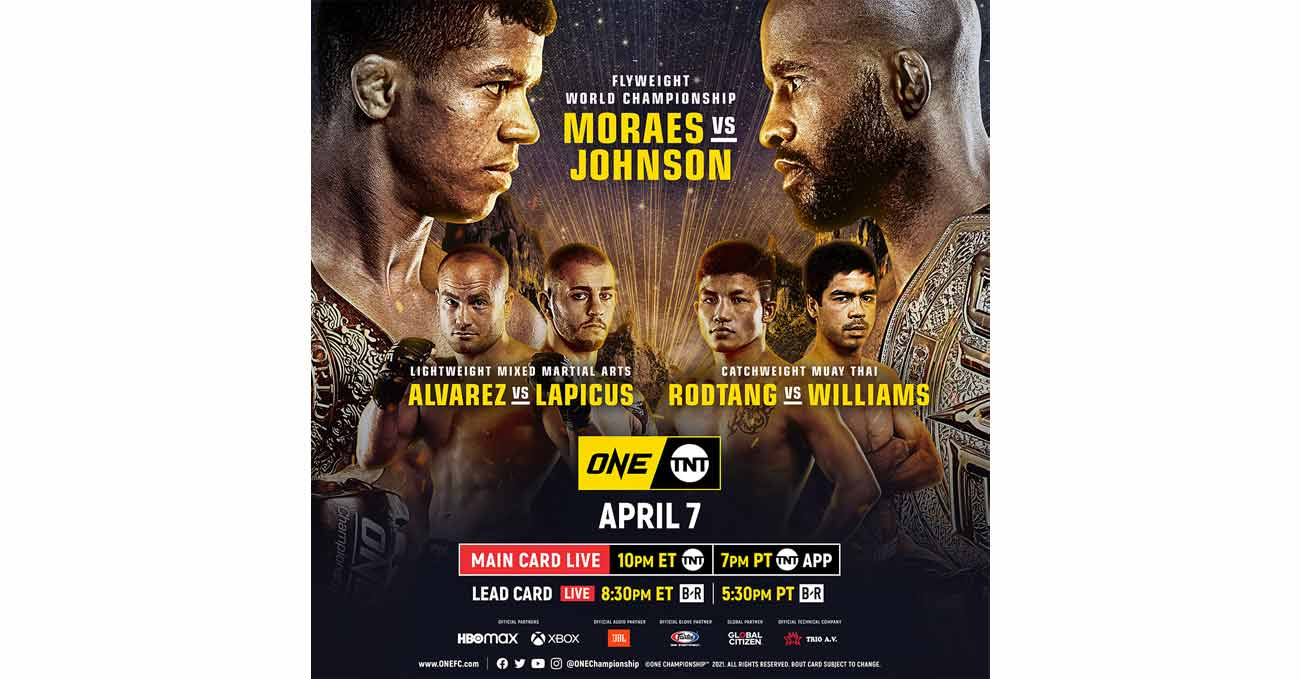 Poster of ONE on TNT 1: Moraes vs Johnson