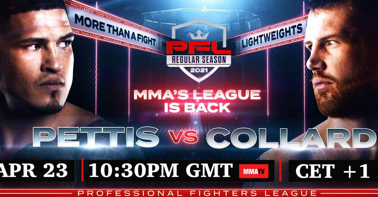 Anthony Pettis vs Clay Collard full fight video PFL 1 2021 poster